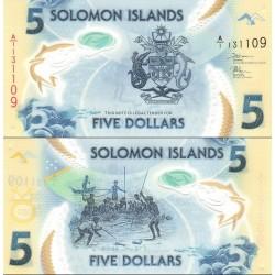 اسکناس پلیمر 5 دلار - جزایر سلیمان 2019