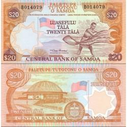 اسکناس 20 تالا - ساموا 1985