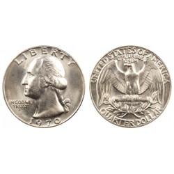 سکه 25 سنت - کوارتر - نیکل مس - تصویر جرج واشنگتن - آمریکا 1970 غیر بانکی