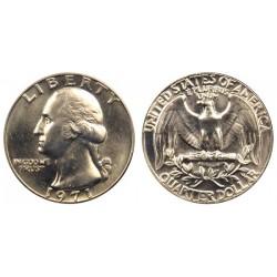 سکه 25 سنت - کوارتر - نیکل مس - تصویر جرج واشنگتن - آمریکا 1971 غیر بانکی