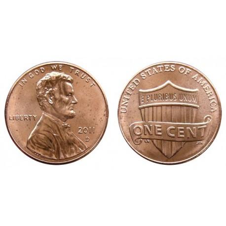 سکه 1 سنت - برنجی - آمریکا 2011 غیر بانکی