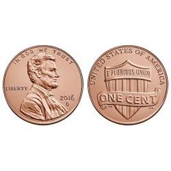 سکه 1 سنت - برنجی - آمریکا 2016 غیر بانکی