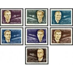 7 عدد تمبر کنفرانس بین المللی سفرهای فضائی - مجارستان 1962 قیمت 6.7 دلار