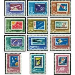 12 عدد تمبر کنفرانس وزیران پست کشورهای سوسیالیستی - مجارستان 1963 قیمت 5 دلار