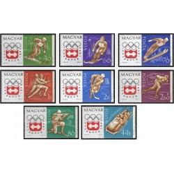 8 عدد تمبر بازیهای المپیک زمستانی اینزبروک اتریش 1964- مجارستان 1963 قیمت 5.3 دلار