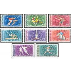 8 عدد تمبر بازیهای المپیک مکزیکو سیتی - مکزیک - مجارستان 1968 قیمت 4.5 دلار