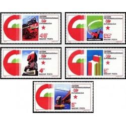 5 عدد تمبر پوسترهای 30مین سالگرد آزادی - مجارستان 1975
