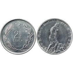 سکه 2.5 لیر - ترکیه 1970 غیر بانکی