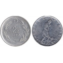 سکه 2.5 لیر - ترکیه 1973 غیر بانکی