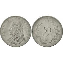 سکه 50 کروز - آلیاژ Acmonital- ترکیه 1975 غیر بانکی