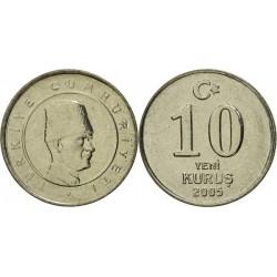سکه 10 کروز - نیکل مس - ترکیه 2005 غیر بانکی