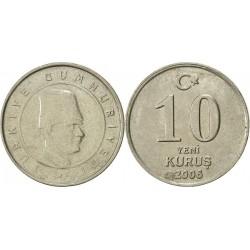 سکه 10 کروز - نیکل مس - ترکیه 2006 غیر بانکی