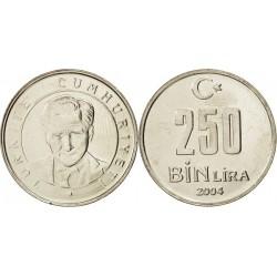 سکه 250000 لیر - نیکل مس روی - ترکیه 2004 غیر بانکی