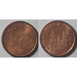 سکه 1 سنت یورو - مس روکش فولاد - اسپانیا 2005 غیر بانکی