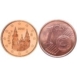 سکه 1 سنت یورو - مس روکش فولاد - اسپانیا 2015 غیر بانکی