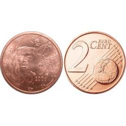 سکه 2 سنت یورو - مس روکش فولاد -فرانسه 2006 غیر بانکی