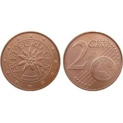 سکه 2 سنت یورو - مس روکش فولاد - اتریش 2008 غیر بانکی