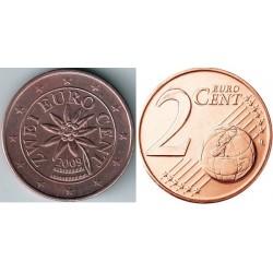 سکه 2 سنت یورو - مس روکش فولاد - اتریش 2009 غیر بانکی
