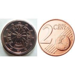 سکه 2 سنت یورو - مس روکش فولاد - اتریش 2012 غیر بانکی