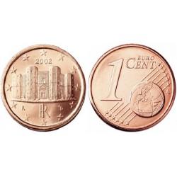سکه 1 سنت یورو - مس روکش فولاد - ایتالیا 2002 غیر بانکی