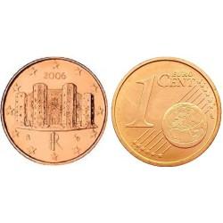 سکه 1 سنت یورو - مس روکش فولاد - ایتالیا 2006 غیر بانکی