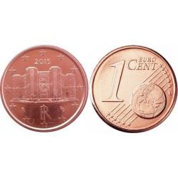 سکه 1 سنت یورو - مس روکش فولاد - ایتالیا 2017 غیر بانکی