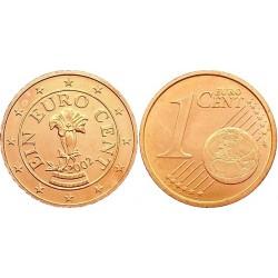 سکه 1 سنت یورو - مس روکش فولاد - اتریش 2002 غیر بانکی