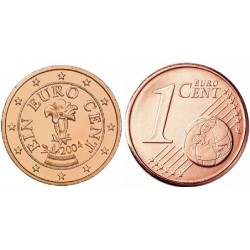 سکه 1 سنت یورو - مس روکش فولاد - اتریش 2004 غیر بانکی
