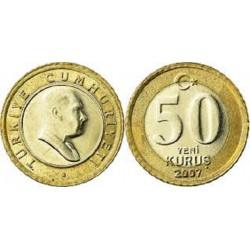 سکه 50 کروز - بیمتال  - ترکیه 2007 غیر بانکی