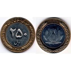 سکه 250 ریالی - نیکل برنز - بیمتال - جمهوری اسلامی 1378 بانکی