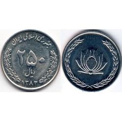 سکه 250 ریالی - نیکل - جمهوری اسلامی 1384 بانکی