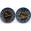 سکه  500 ریالی - نیکل برنز- بیمتال - جمهوری اسلامی 1383 بانکی
