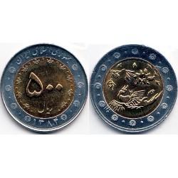 سکه  500 ریالی - نیکل برنز- بیمتال - جمهوری اسلامی 1384 بانکی