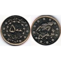 سکه  500 ریالی - برنز - جمهوری اسلامی 1386 بانکی