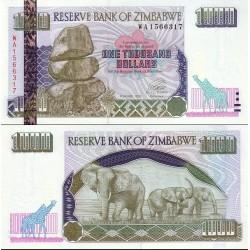 اسکناس 1000 دلار - زیمباوه 2003 ارقام سریال عمودی درشت