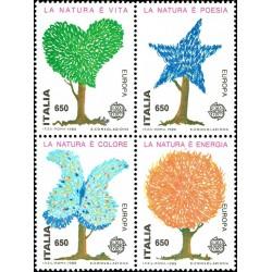 4 عدد تمبر مشترک اروپا - Europa Cept  - حفاظت از طبیعت- ایتالیا 1986 قیمت 11 دلار
