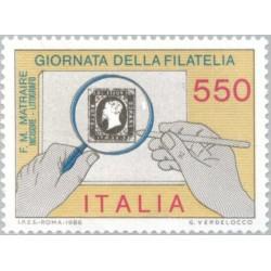1 عدد تمبر روز تمبر - ایتالیا 1986