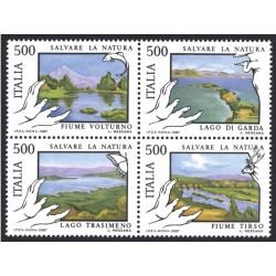 4 عدد تمبر حفاظت از طبیعت - ایتالیا 1987 قیمت 6.6 دلار