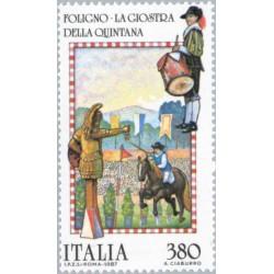 1 عدد تمبر جشن اقوام - ایتالیا 1987