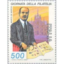 1 عدد تمبر روز تمبر - ایتالیا 1987