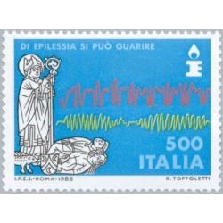1 عدد تمبر بنیاد صرع  - ایتالیا 1988