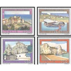 4 عدد تمبر تبلیغات توریسم - تابلو نقاشی - ایتالیا 1988 قیمت 5 دلار