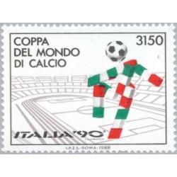 1 عدد تمبر جام جهانی فوتبال ایتالیا 1990 - ایتالیا 1988 قیمت 5.5 دلار