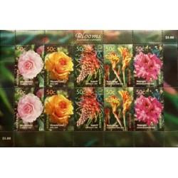 مینی شیت گلها - رز استرالیائی  - استرالیا 2003 ارزش روی شیت 5 دلار استرالیا