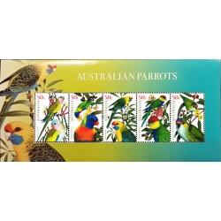 مینی شیت طوطی های استرالیائی  - استرالیا 2005 ارزش روی شیت 2.5 دلار استرالیا