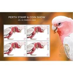 مینی شیت نمایشگاه تمبر و سکه پرت - گالا  - استرالیا 2019 ارزش روی شیت 4 دلار استرالیا