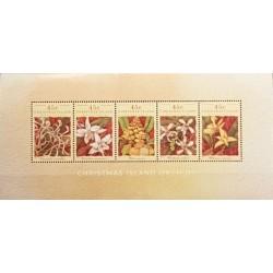 مینی شیت گلهای ارکیده  - استرالیا جزایر کریستمس 1994
