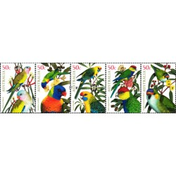 5عدد تمبر طوطی های استرالیائی  - استرالیا 2005 ارزش روی شیت 2.5 دلار استرالیا