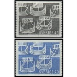 2 عدد تمبر نوردیک - سوئد 1969