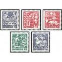 5 عدد تمبر اساطیر شمال باستان - سوئد 1981